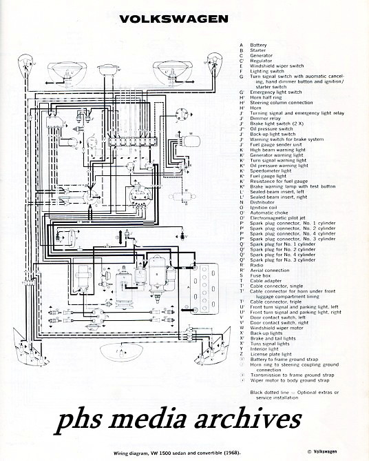 1968 vw wiring diagram windshield wipers