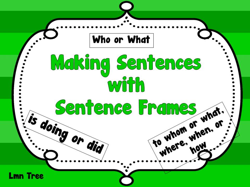 LMN Tree: St. Patrick\'s Day: Making Sentences with Sentence Frames