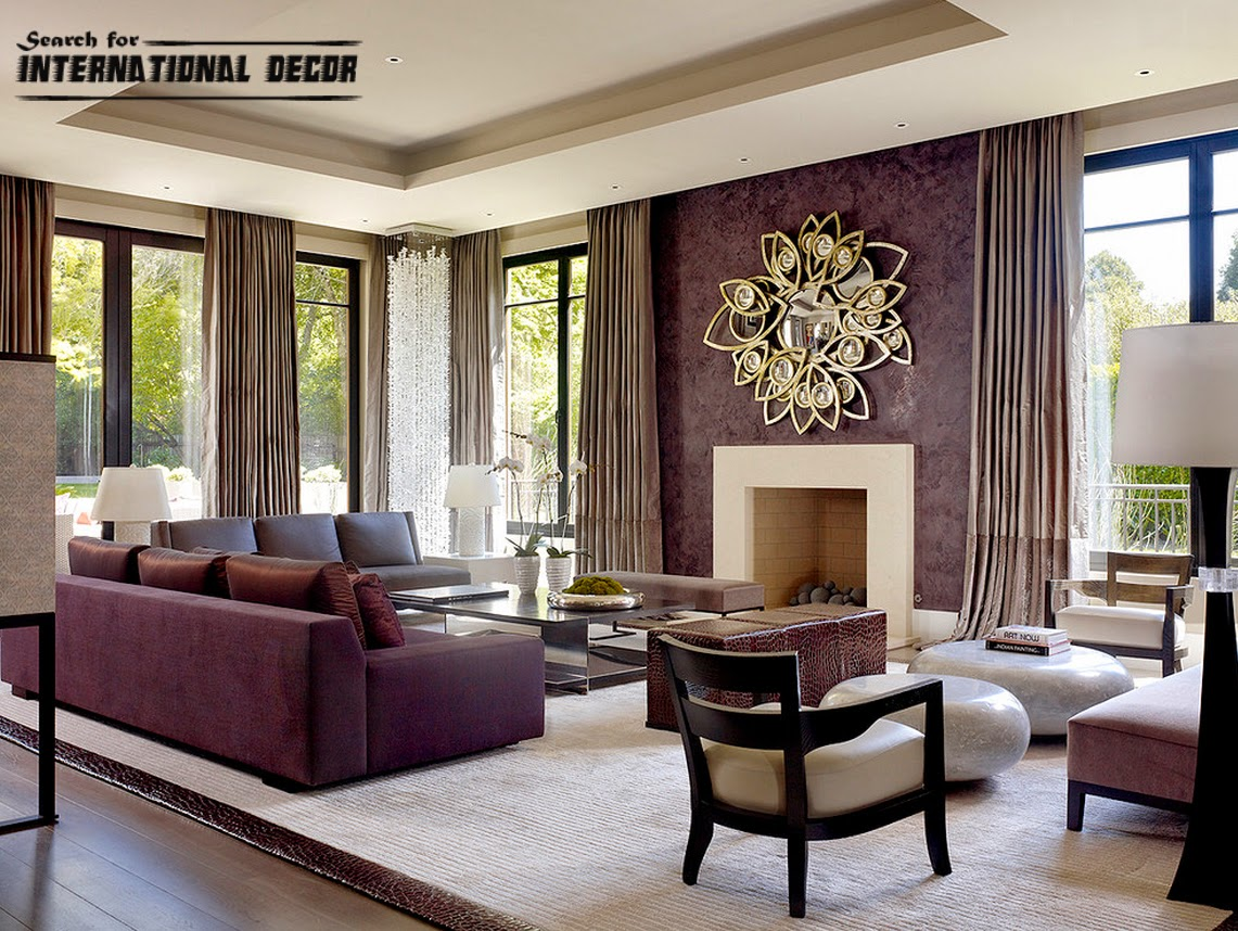 Venetian plaster wall paint colors in the interior for Modern living room design ideas 2015