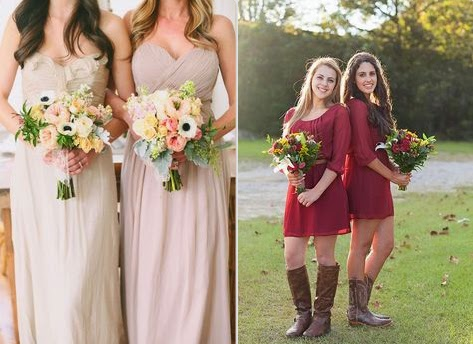 Rustic Wedding Bridesmaid Dresses Ideas Photo