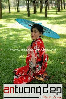 cho thuê trang phục kimono giá rẻ