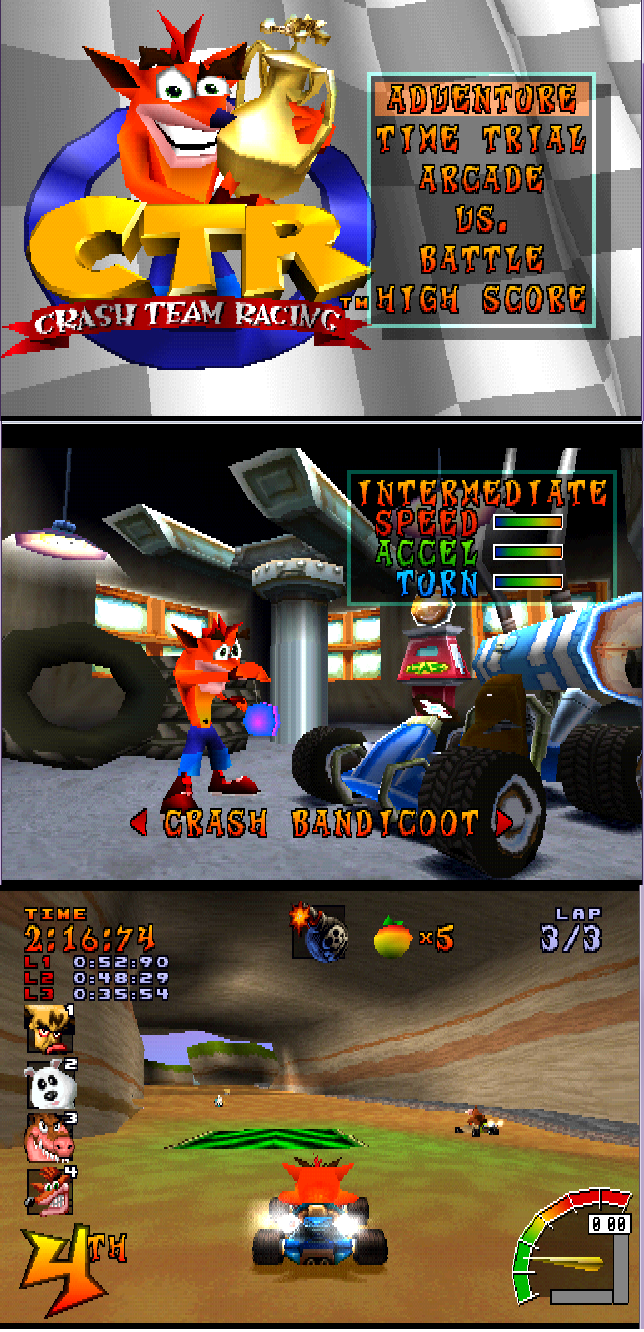 [Play Station 1] CTR   Crash Team Racing para PC en 1 link