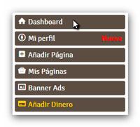 DameFans menu