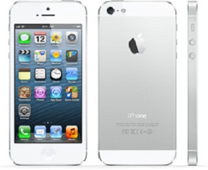 Apple iPhone 5 White Front,Back,Side view