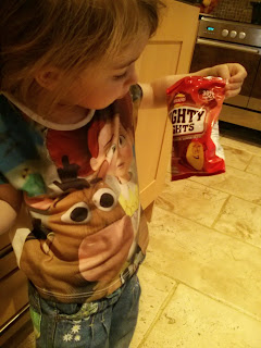checking out the crisps