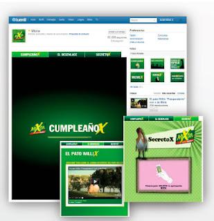 """Vista página Tuenti de Mixta campaña """"El pato Willix"""""""