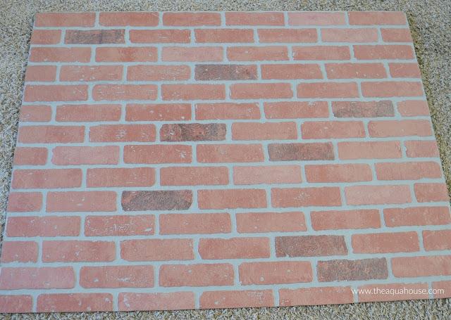 Faux Stone Panels Home Depot : The aqua house how to paint faux brick