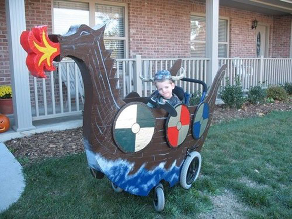 Viking Wheelchair Art Car