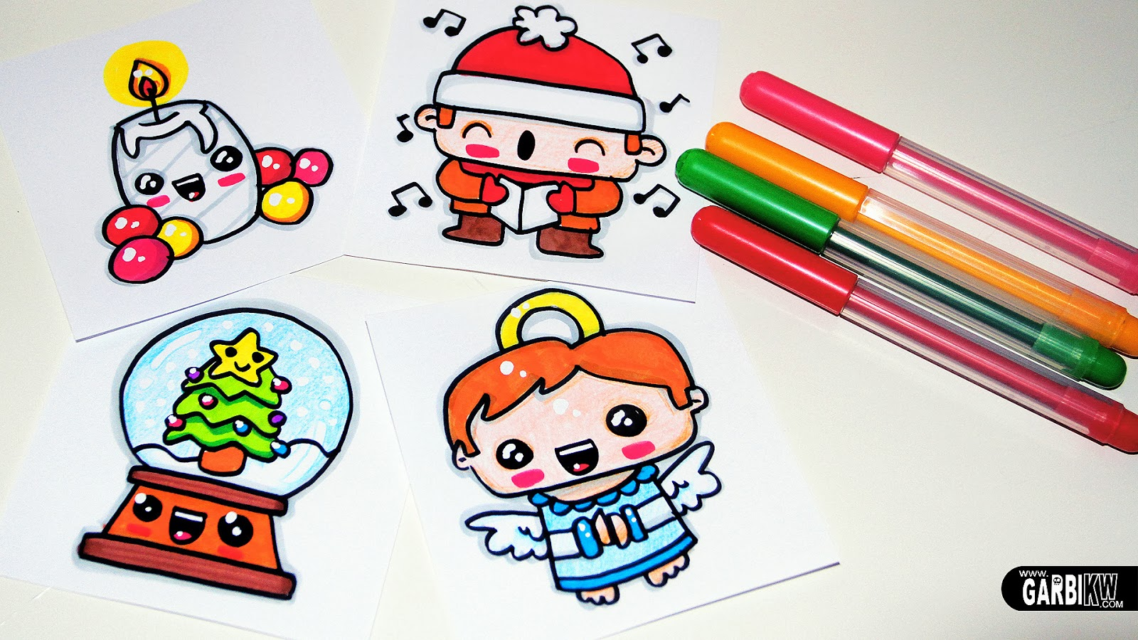 drawing cute christmas easy and kawaii drawings by garbi kw