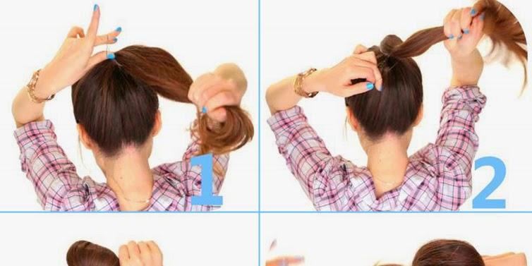 2 Minute Bubble Bun Hairstyle Tutorial B & G Fashion