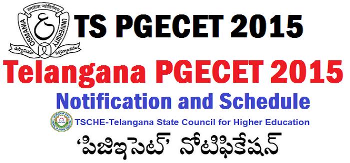 TS PGECET 2015 Notification