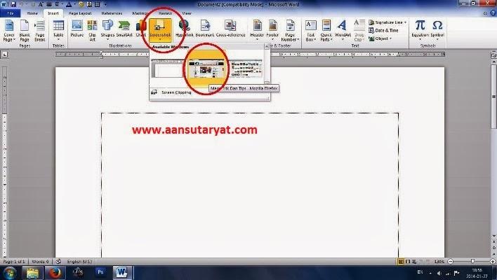 Menggunakan Screenshot Pada Microsoft Office Word 2010