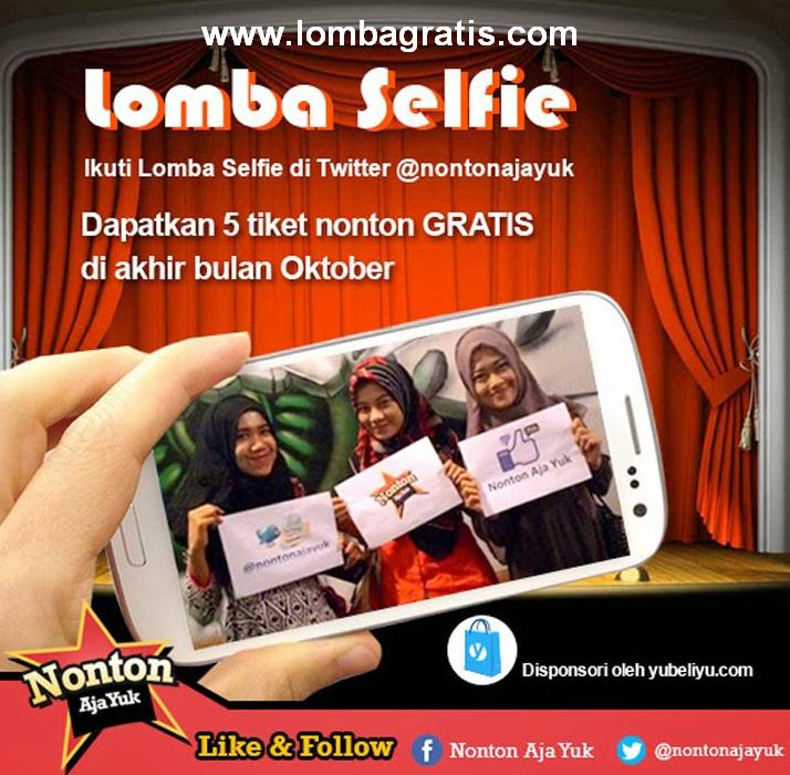 Lomba Foto Selfie Berhadiah  5 Tiket Nonton Gratis