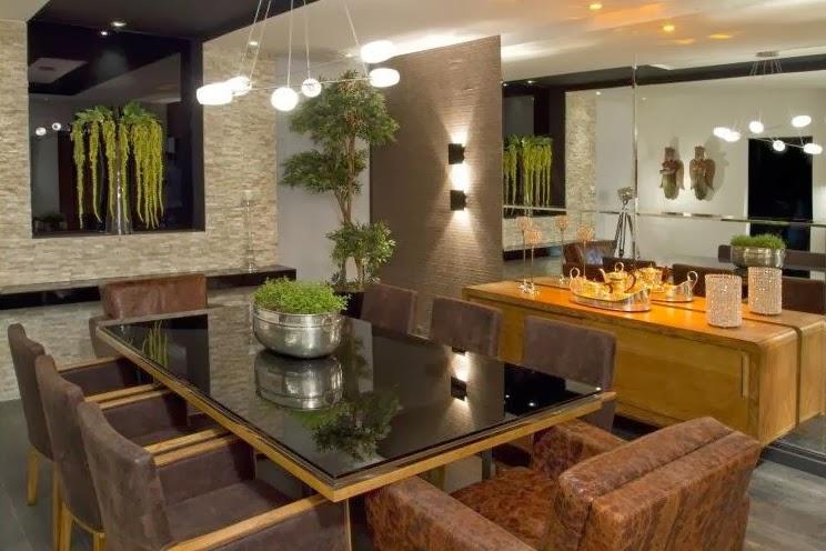 Sala Pequena Rustica Moderna ~ Construindo Minha Casa Clean 21 Salas de Jantar dos Sonhos com Buffet