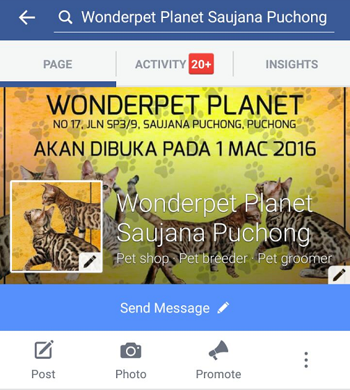 WONDERPET PLANET BRANCH FACEBOOK