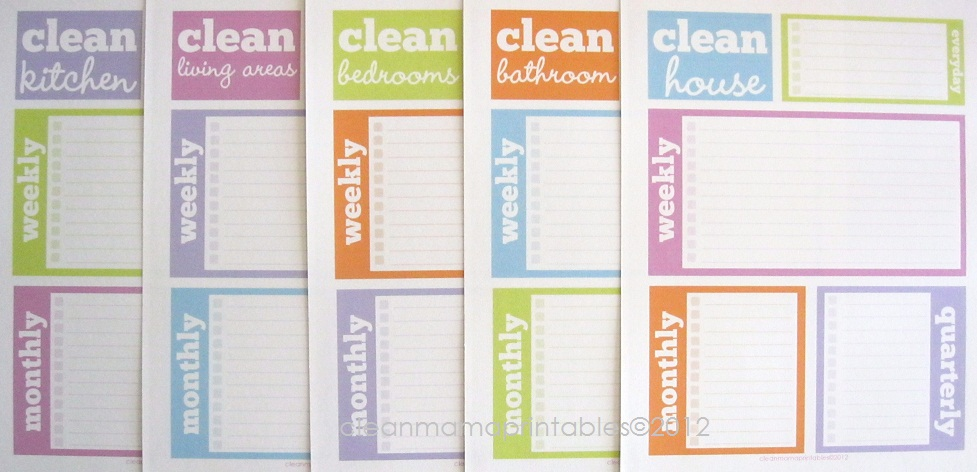 Check out my Etsy shop  Clean Mama Printables  I have two Cleaning Kits    aqua   lime and brights and I have a brand new Clean House Kit   it s  introductory. Clean   Organized 2012 Archives   Clean Mama