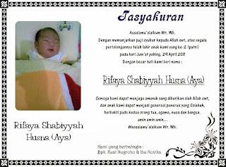 syukuran kelahiran bayi tersebut akan selalu membutuhkan contoh ...