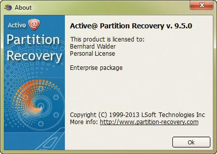 Resultado de imagen para Active Partition Recovery Professional 9.5.0