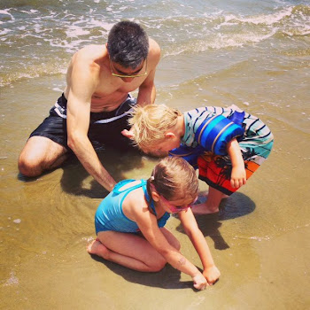 Digging for Shells with the twins!