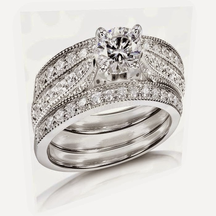 3 piece wedding ring pictures - 3 Piece Wedding Ring Set