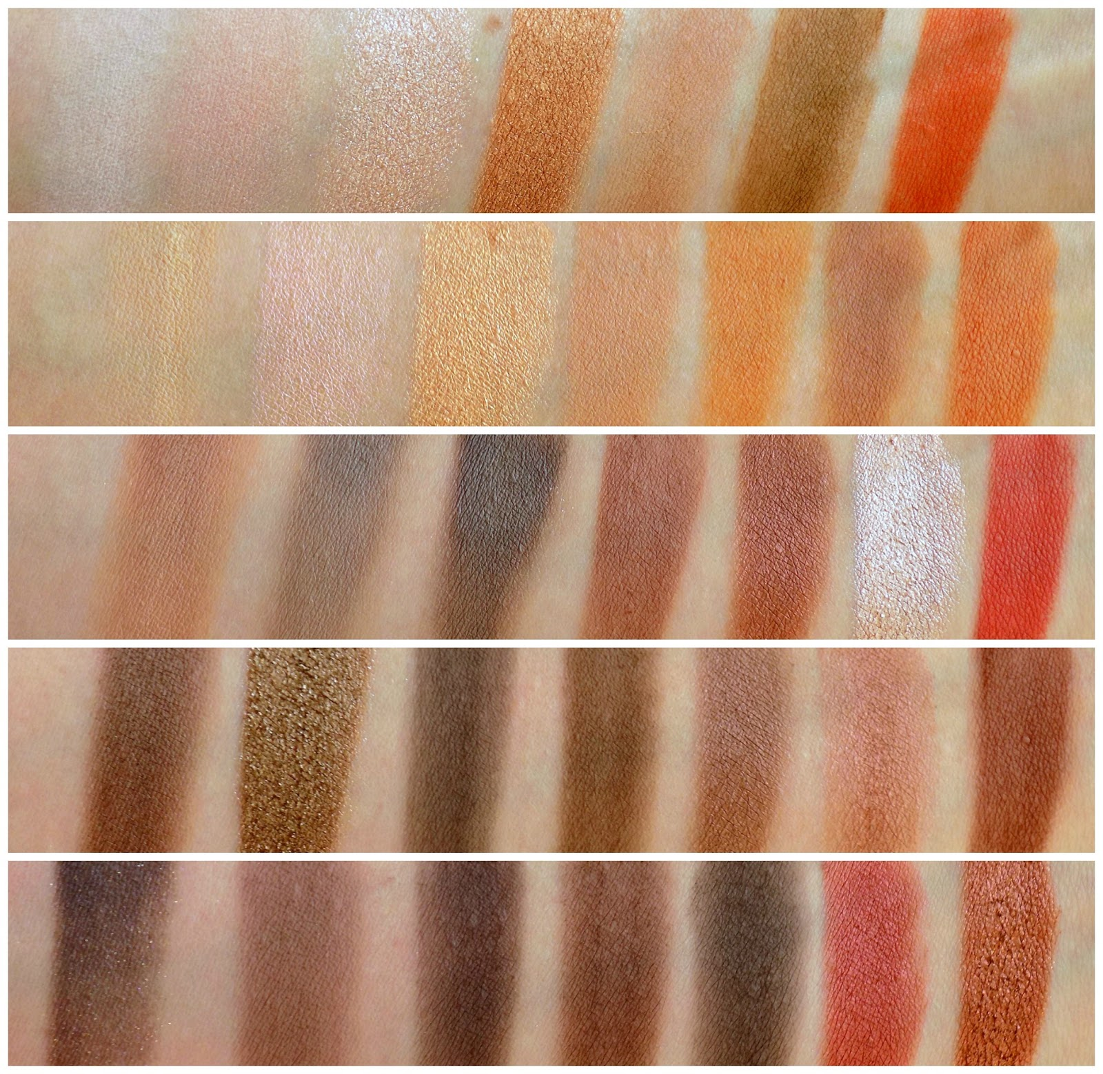 Morphe Brushes 35O palette swatches