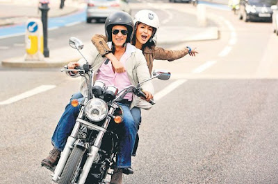 Anushka Shahrukh in London on bike