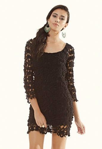 vestido de croch manga longa   gr fico pap e receita