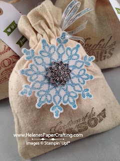mini musling bag with snowflake