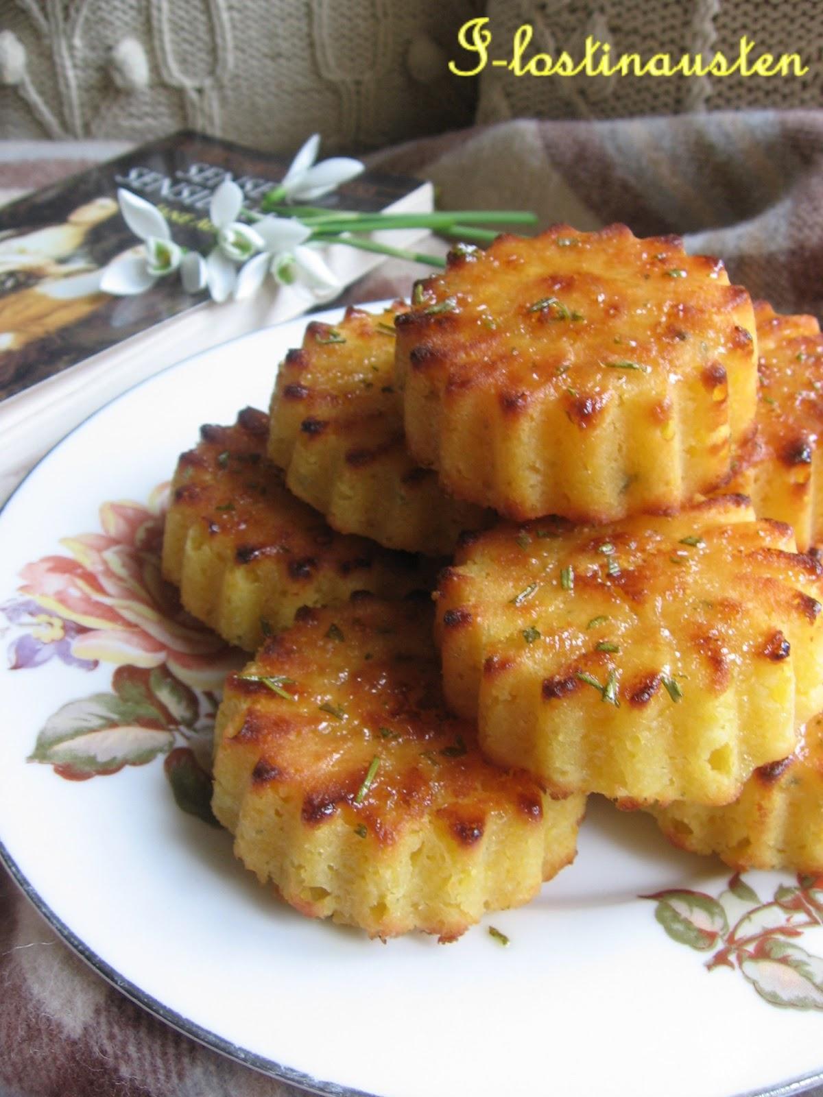 I-Lost in Austen: Mini Rosemary -Lemon Polenta Cake