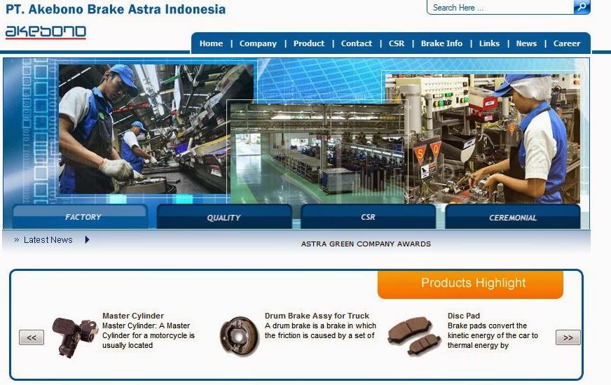 Lowongan Kerja PT. Akebono Brake Astra Indonesia Jakarta