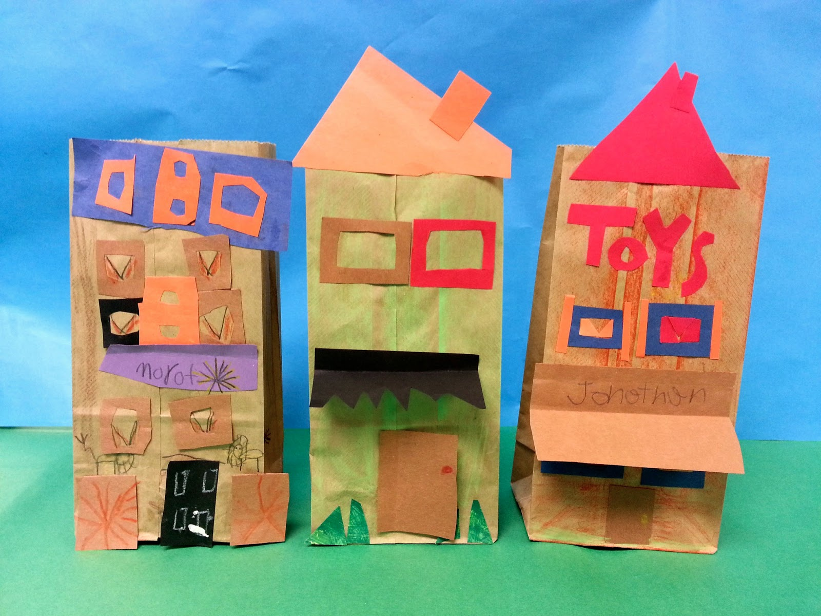 Paper bag buildings 1st art with mrs nguyen for Projects of houses