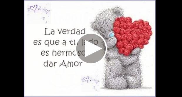 Hermoso poema de amor En las paredes dibujo corazones y dentro de