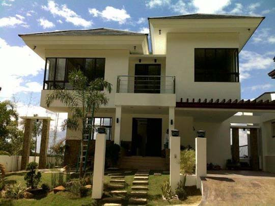 Modern asian exterior house design ideas exotic house for Modern house front design