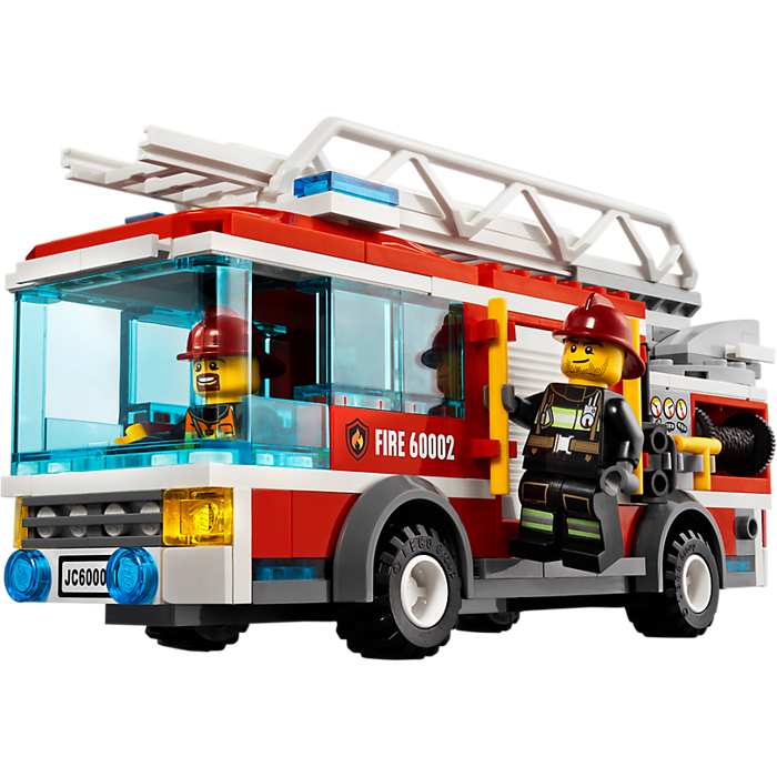 My Lego Style Lego City Fire Truck 60002