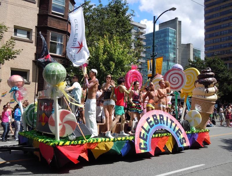 Vancouver Pride Parade Celebrities float