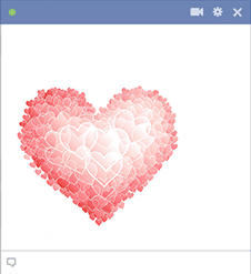 Light pink heart emoticon