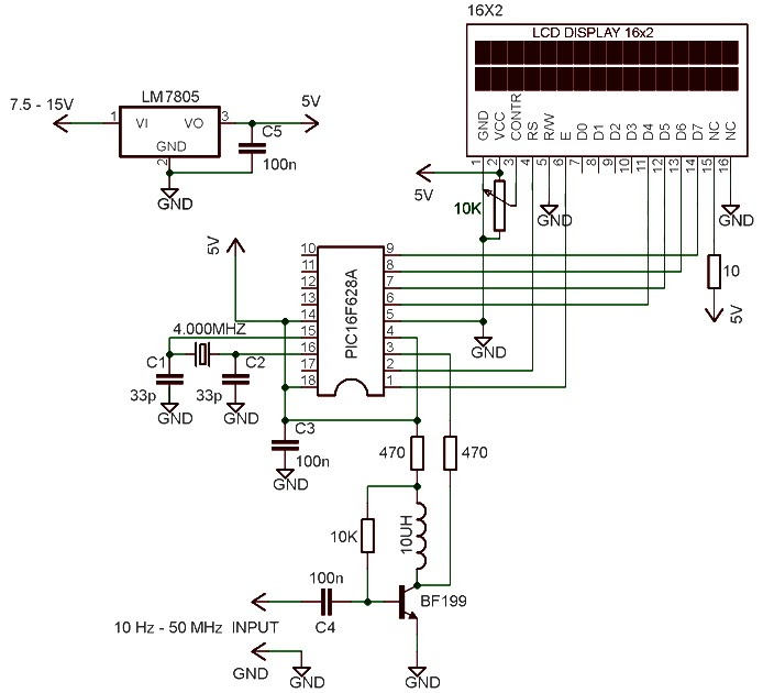 60 Hertz Frequency Meter : Hz mhz frequency meter ic schematics
