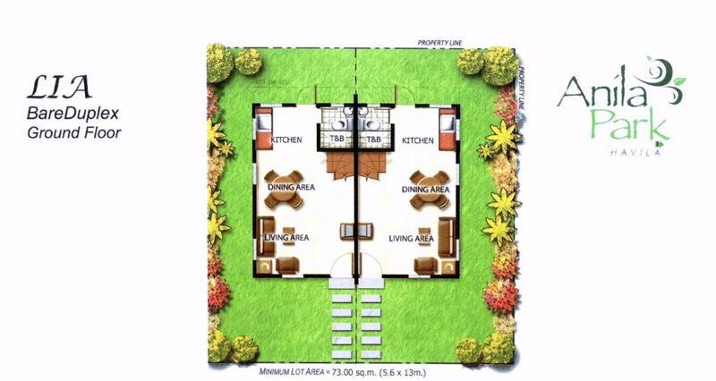 Lia Duplex Floor Plan at Anila Park Taytay