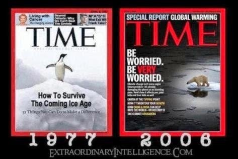 PORTADA REVISTA TIME 1977 Nos congelamos 2006 Nos recalentamos