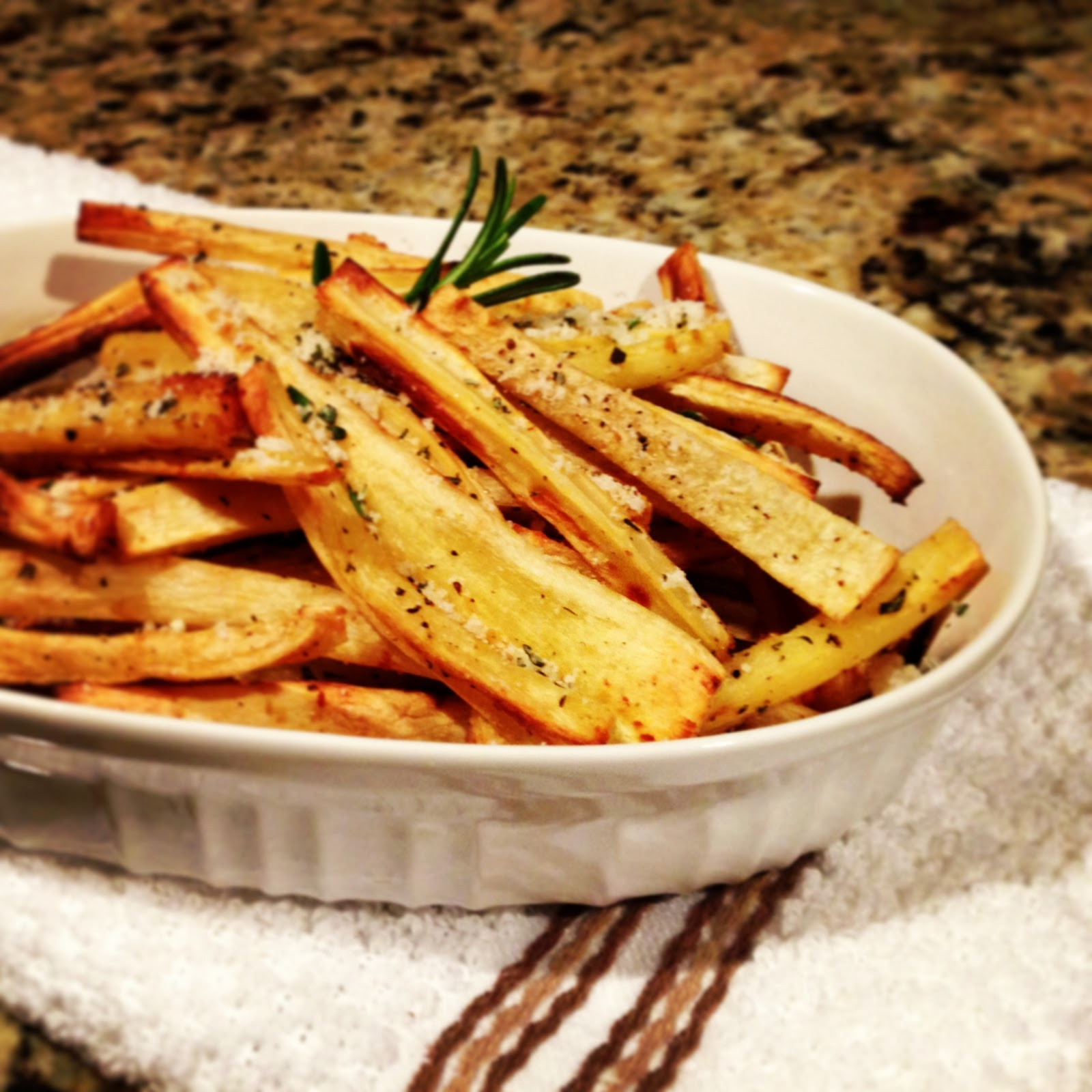 Parsnip Chips Clean baked parsnip fries