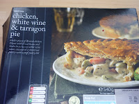 Waitrose chicken, white wine, tarragon pie