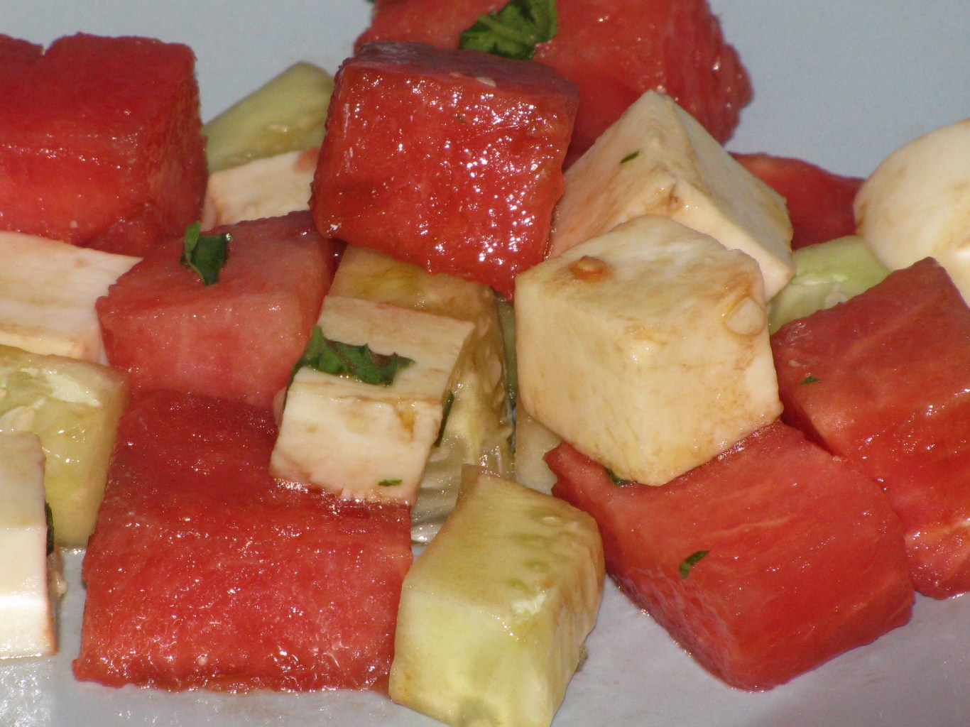 Kammie Cooks Watermelon Mozzarella Cucumber Salad