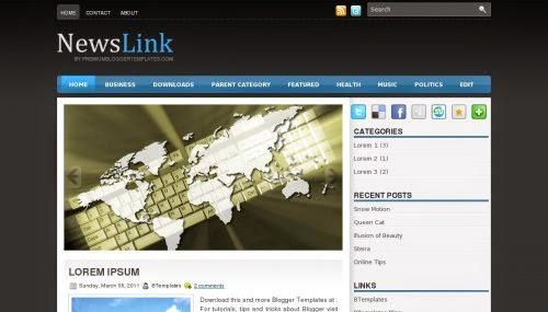 NewsLink - Free Blogger Template
