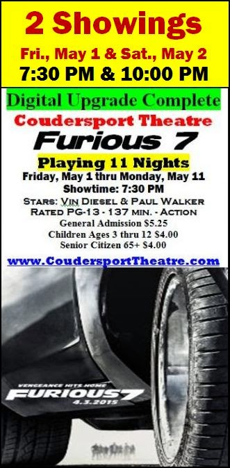 5-1 thru 11 Coudersport Theatre