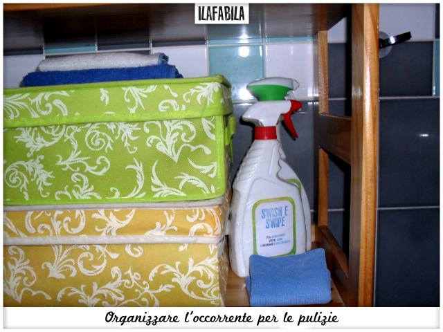 Organizzare l'occorrente per le pulizie - Bagno Grande