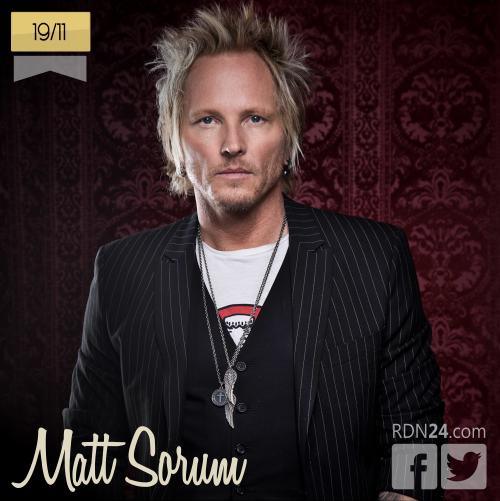 19 de noviembre | Matt Sorum - @mattsorum | Info + vídeos
