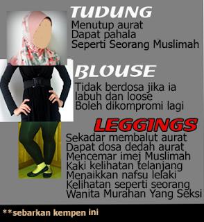 Leggings Ketat Mencemar Maruah Wanita Bertudung