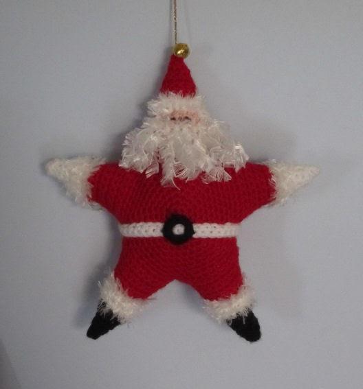 Justjen knits stitches crochet santa stars