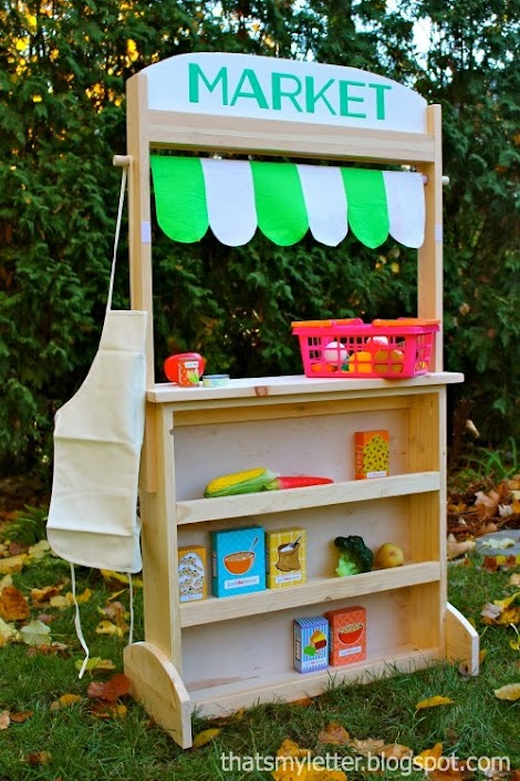 Market Stand Designs : Ana white changeable play stand lemonade market post