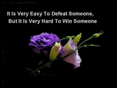 It Is Very Easy To Defeat Someone
